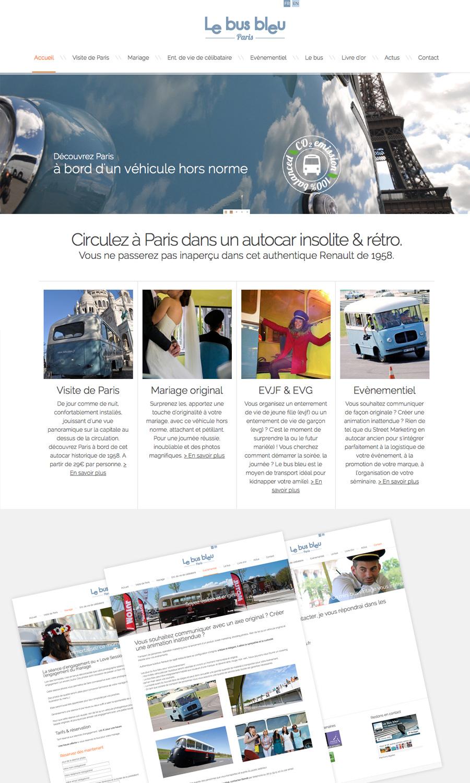 Julie Béal - Le bus bleu - Webdesign