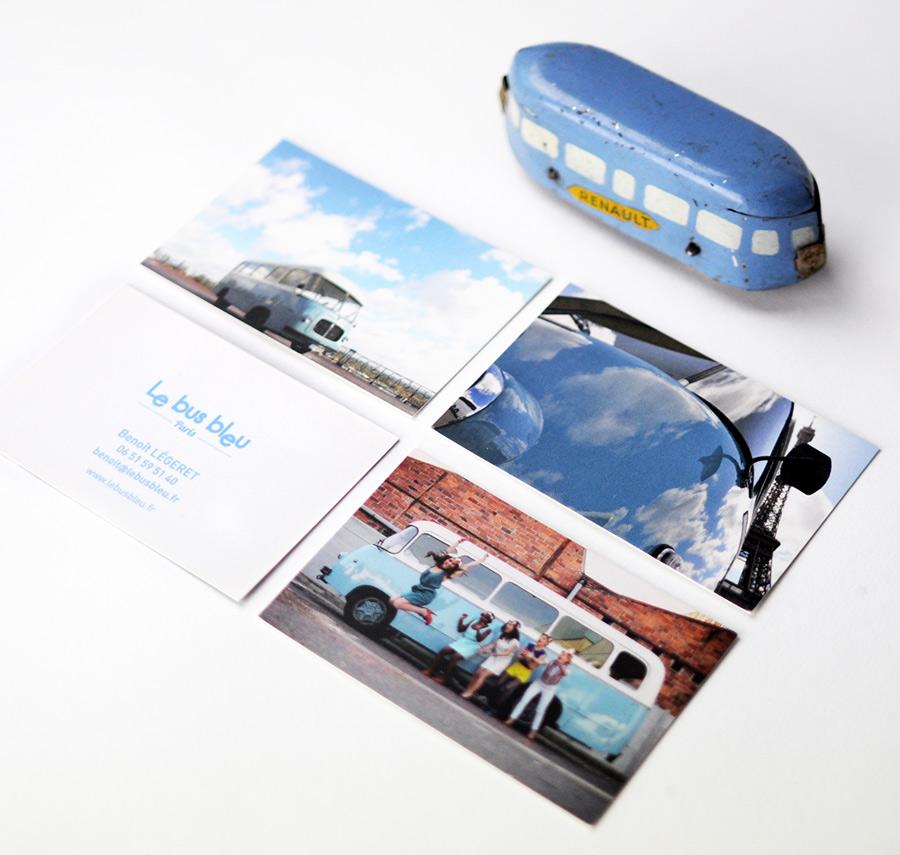 Julie Béal Le bus bleu cartes de visite