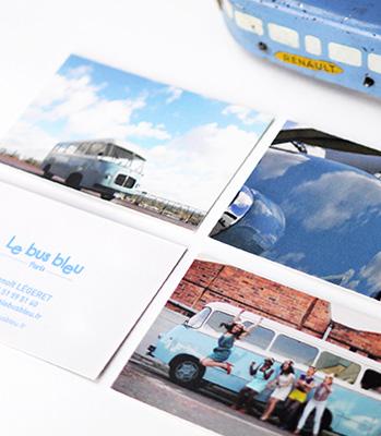 Julie Béal Le bus bleu création graphique