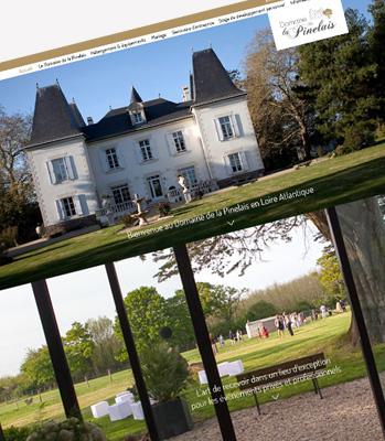 Julie béal Création de site internet Domaine de la Pinelais
